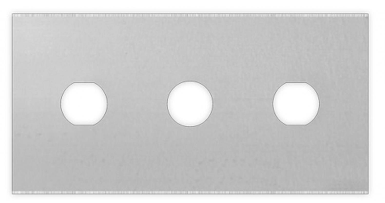 Tjockt, solidt och pålitligt rak 3-håls kolstålblad för skärning av plastfilmer