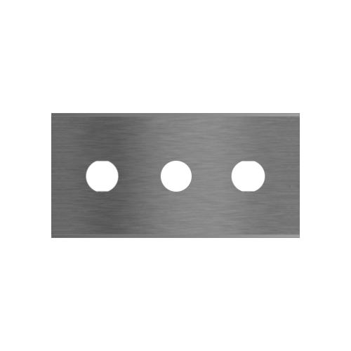 Straight 3-hole industrial razor blades 2-068