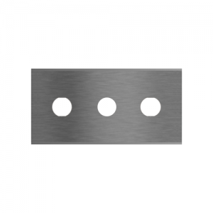 Straight 3-hole industrial razor blades 2-068