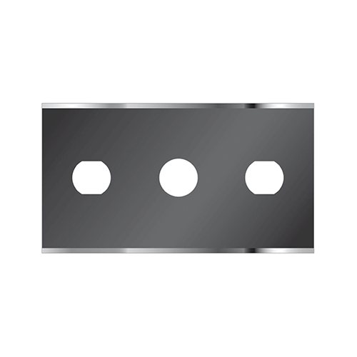 Three hole straight razor blade from Sollex Highest quality 2HD
