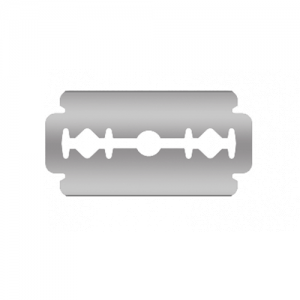 Razor blade with Gillette grip – 100pcs 43x22x0.08mm