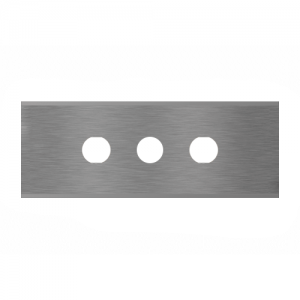 long straight industrial razor blade with three holes Sollex