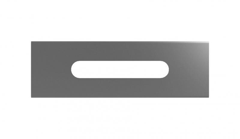 rakt snittblad i extremt verktygsstål för att klippa hårda plastfilmerv
