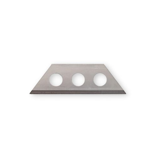 Small trapezoidal blade with 3 holes 30x9x0,4mm keramic coated 100pcs Blade 635K for plastic film with additives