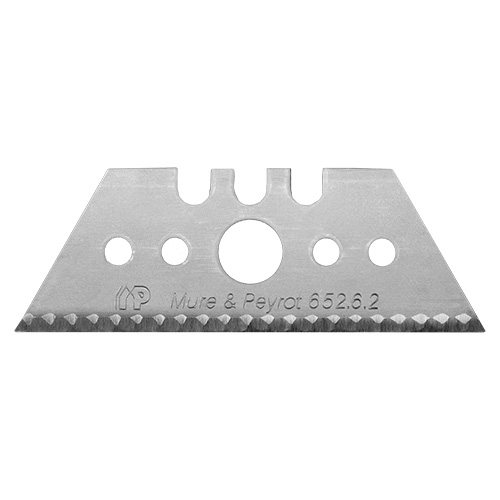Saw-toothed blade made for cutting cardboard with ease and high precision