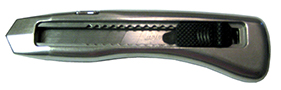 silver colored safety knife