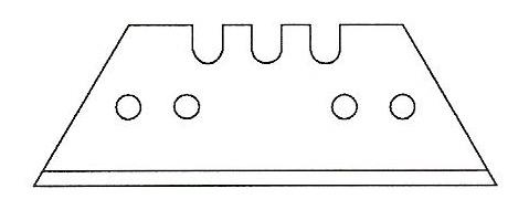 trapetsblad 4 hål verktygsblad