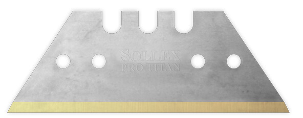 stainless steel trapezoid blade with 4 small holes for safety knives