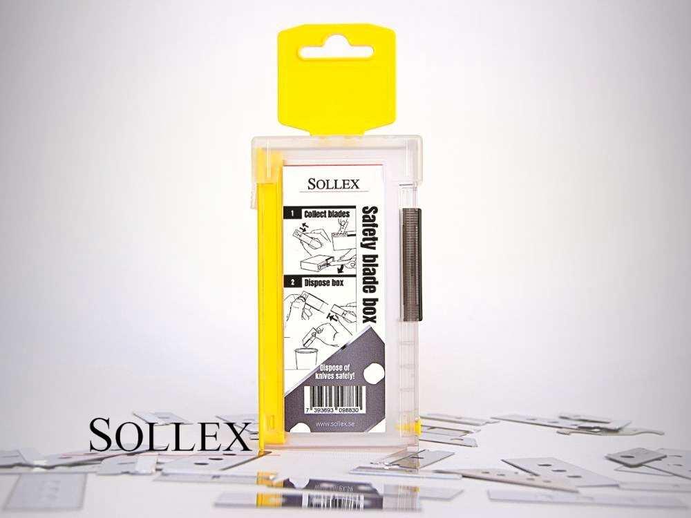 Pressrelease - Safety blade box säkerhetsbox för använda knivblad 988 - Den nya produkten hos Sollex.se