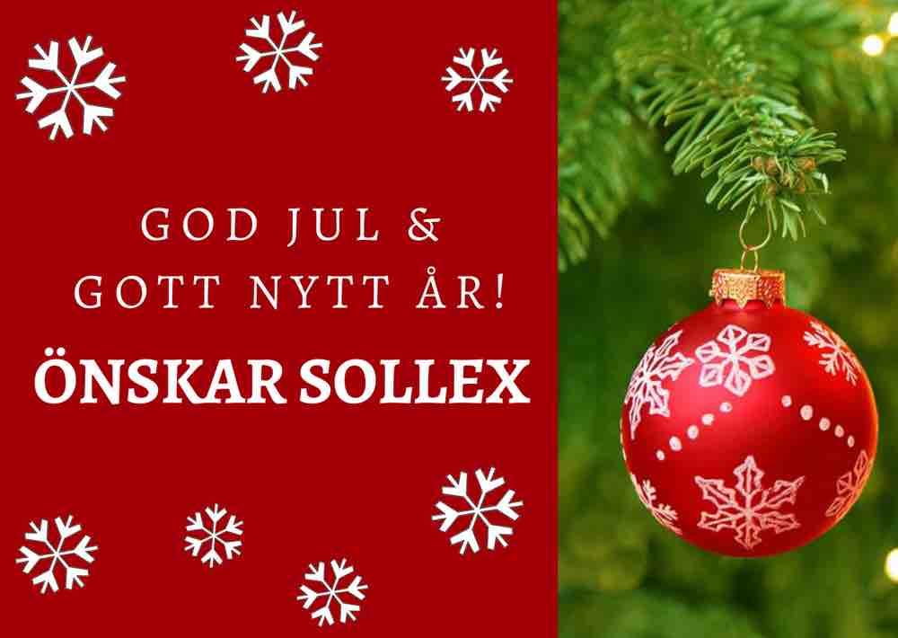 God Jul önskar Sollex din leverantör av knivar, knivblad och industrirakblad