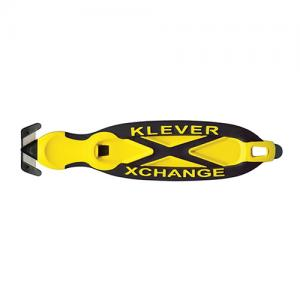 Xchange safety knife from Klever has a hidden blade to reduce damage to users and goods.