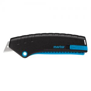 Safety knife Secunorm Mizar from Martyr - Knife blade retractable from handle easy squeeze-grip.
