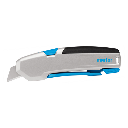 Sollex best-seller Martor Secupro 625 automatic retractable knife blade when handle makes contact with surface
