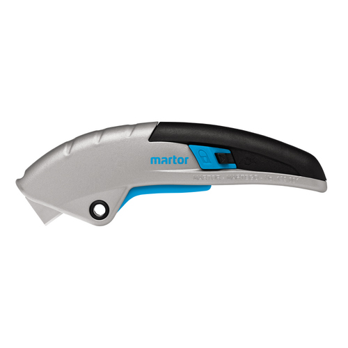 Martor Secupro Martego is an award winning safety knife. Automatic retraction lever at point of contact
