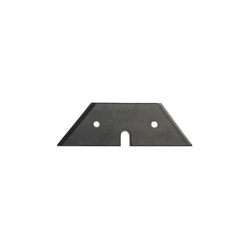 Trapezoid Blade designed to cut lead sheet, fire-resistant plaster and reinforced flex material, also works to cut plasterboard