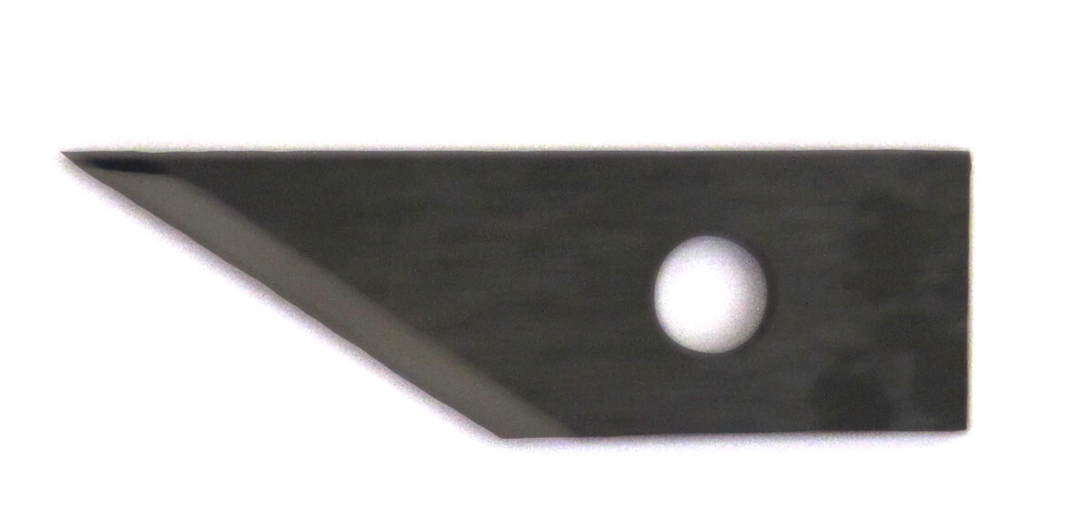 Tangential blade in solid tungsten for use as machine blade