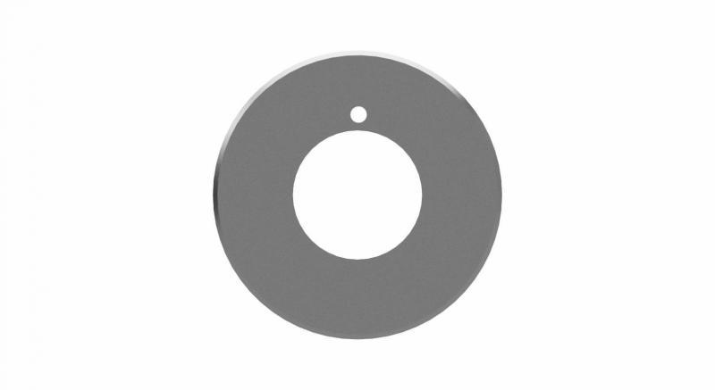 Very durable circular knife in tool steel