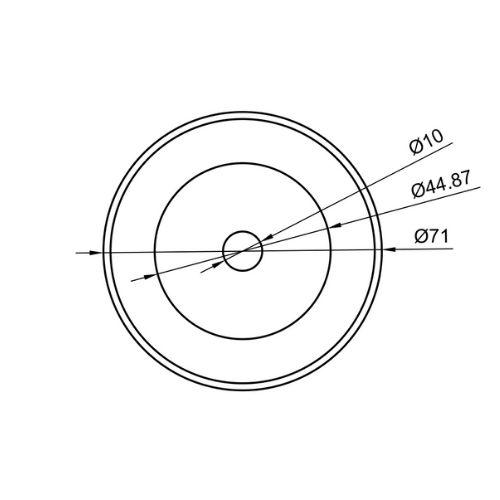 R71 71x10x1.3mm - Sharp grinding - Drawing