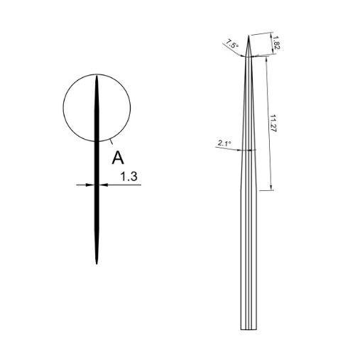 R71 71x10x1.3mm - Sharp grinding - Drawing 2