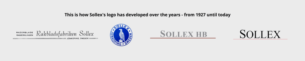how Sollex logo has developed over the years from 1927 to 2021