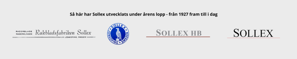 Sollex Logo - så här har Sollex utvecklats under årens lopp från 1927 till 2021