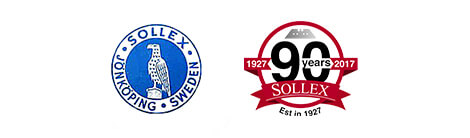Logo of Sollex & 90 year anniversary