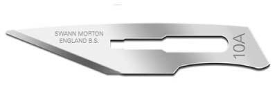 Carbon Steel scalpel blade from Swann-Morton