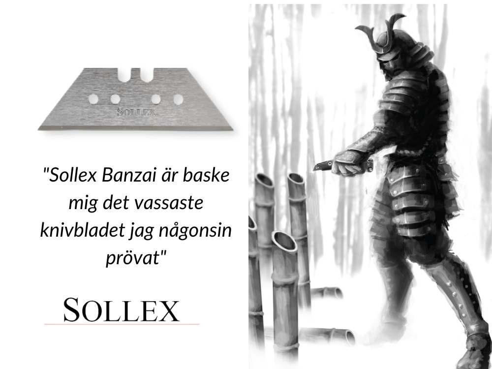 Sollex Banzai knivblad - förmodligen världens vassaste knivblad