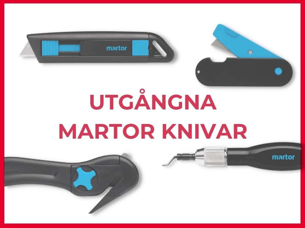 Följande knivar från Martor har utgått och ersätts av Martors eller Sollex produkter - Sollex tips