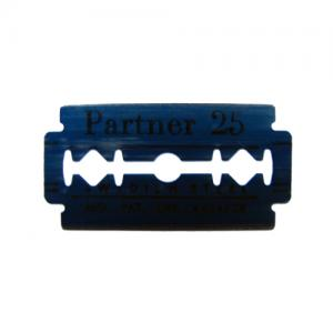Industrial razor blade with slots. Sollex razor blade is Gillette-fitting and is suitable for Pedi