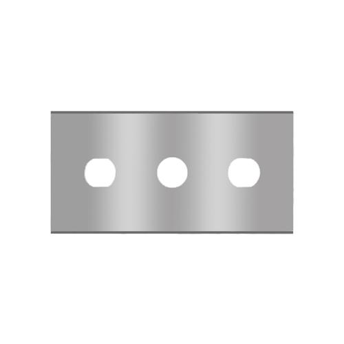 Straight 3-hole blade ceramic 2-013-k Sollex knives