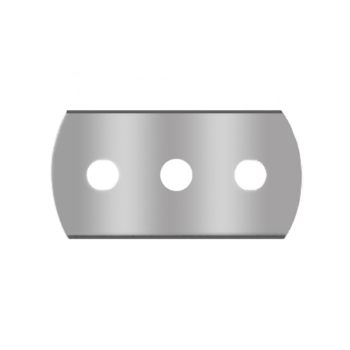 Rounded 3-hole-blade 1-013 for plastic