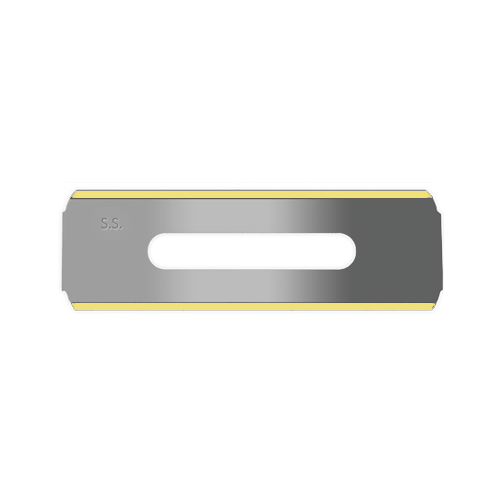 slitter blade in stainless steel with a titanium coating on the edge Sollex