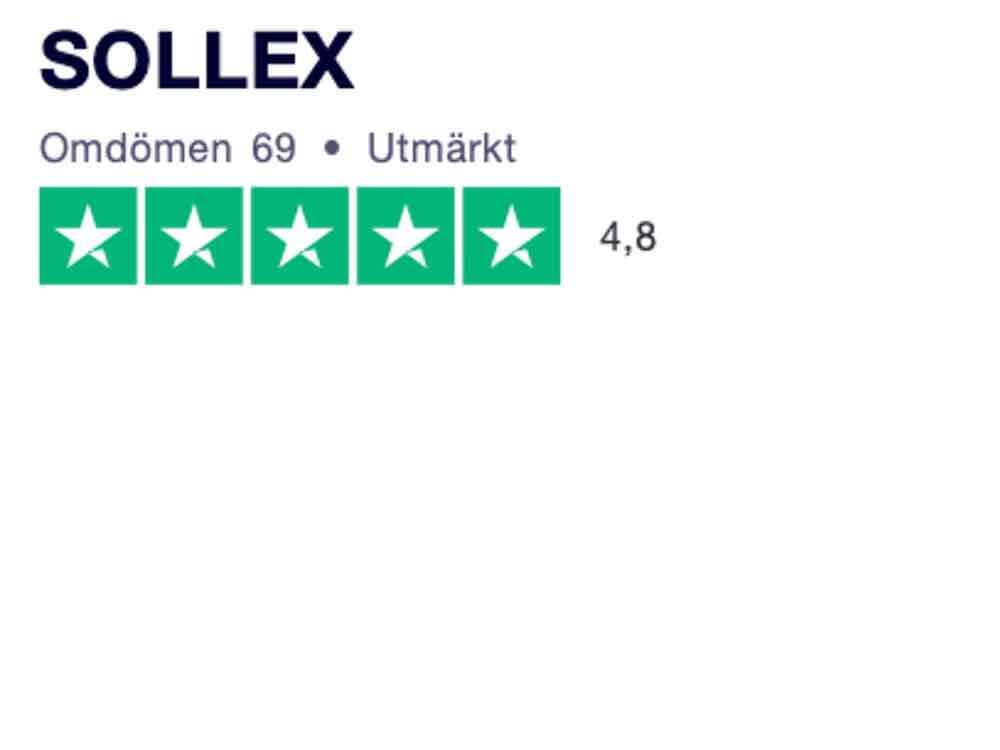 Sollex Trustpilot 4.8