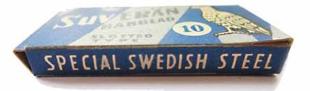 Gammal bok på Svenska rakblad