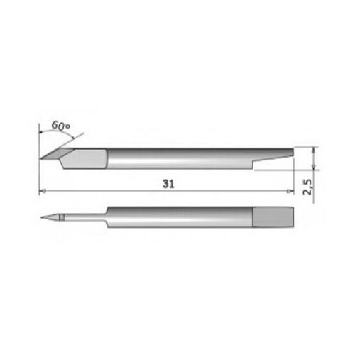 Tangential Blade 60° Summa - Sandblast 5pcs