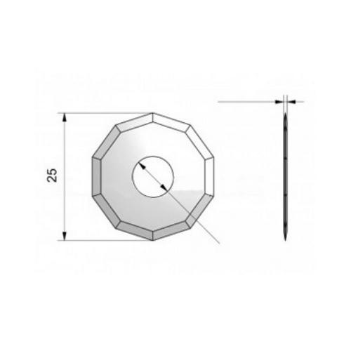 Rotary blade Max. cutting depth: 3.5 mm