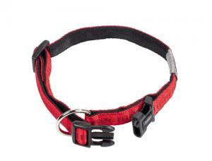 Nobby Halsband Nylon, Softgrip Röd