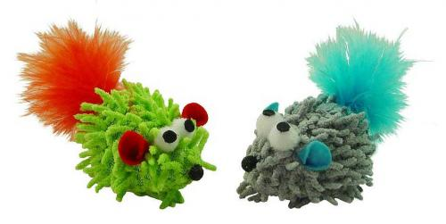 Pritax Loopy Mice with Feather and Catnip