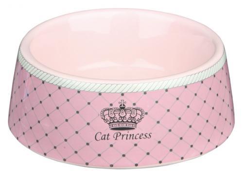 Trixie Keramikskål Princess Cat Rosa