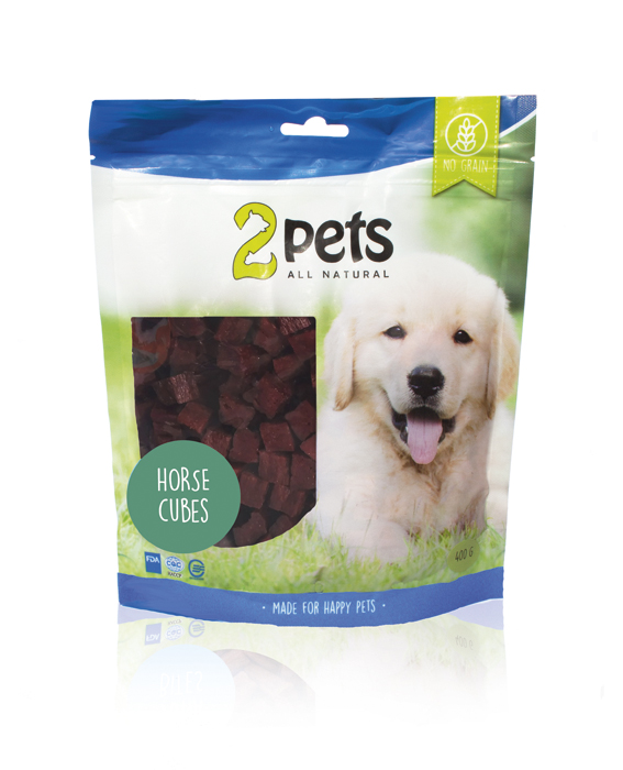 2pets Dogsnack Horse Cubes 400g