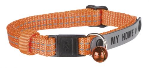"""Trixie Katthalsband """"MY HOME"""" med adressflik, orange"""