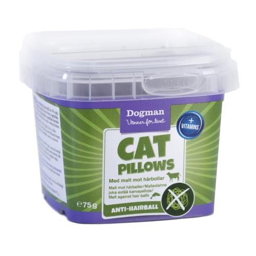 Dogman Cat Pillows anti-hårboll, 75 g