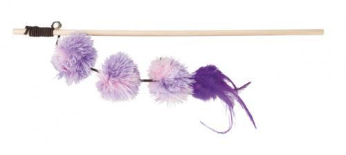 Trixie Kattvippa med Pompom Balls, lila