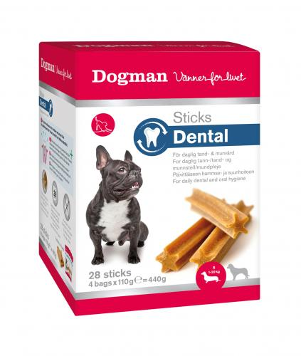 Dogman Sticks Dental Fresh box Small dog, 28 st