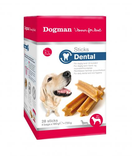 Dogman Sticks Dental Fresh box M/L, 28 st