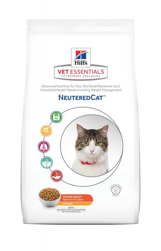 Hill's VetEssentials NeuteredCat Young Adult kattfoder med kyckling