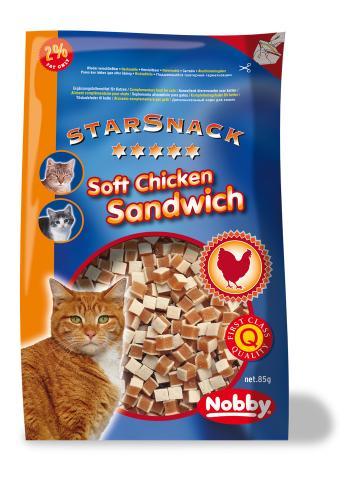 Nobby StarSnack Soft Chicken Sandwich 85g