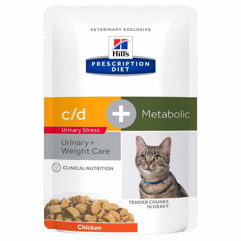 Hill's Prescription Diet Feline c/d Urinary Stress + Metabolic 12x85g