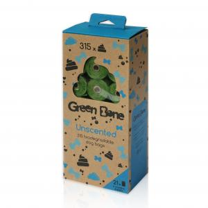 Green Bone Unscented Biobajspåsar 21 rullar